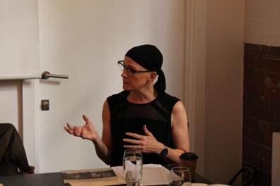 Julia Gleich, guest speaker at the second Kaleidoscopic Arts professional development meeting