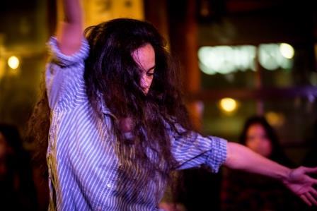 Esther Siddiquie at the Third Kaleidoscopic Arts Platform at The Galvanisers Union, Photograph: Liz Gorman